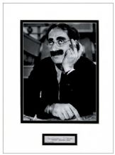 Groucho Marx Autograph Signed Display